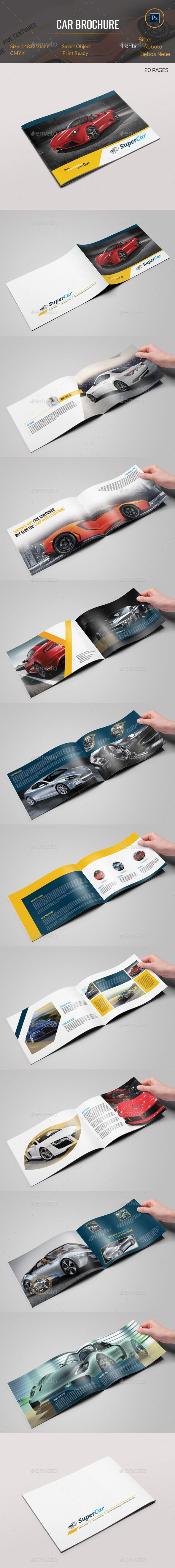 Car Brochure — Photoshop PSD #corporate brochure #car template • Available here → https://graphicriver.net/item/car-brochure/10916014?ref=pxcr
