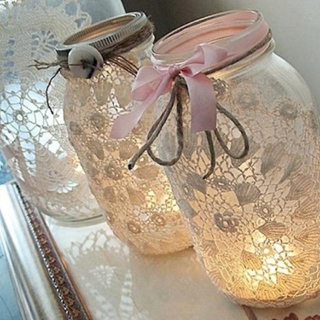 Los #frascos de mermelada y salsas los puedes convertir en lindos diseños.