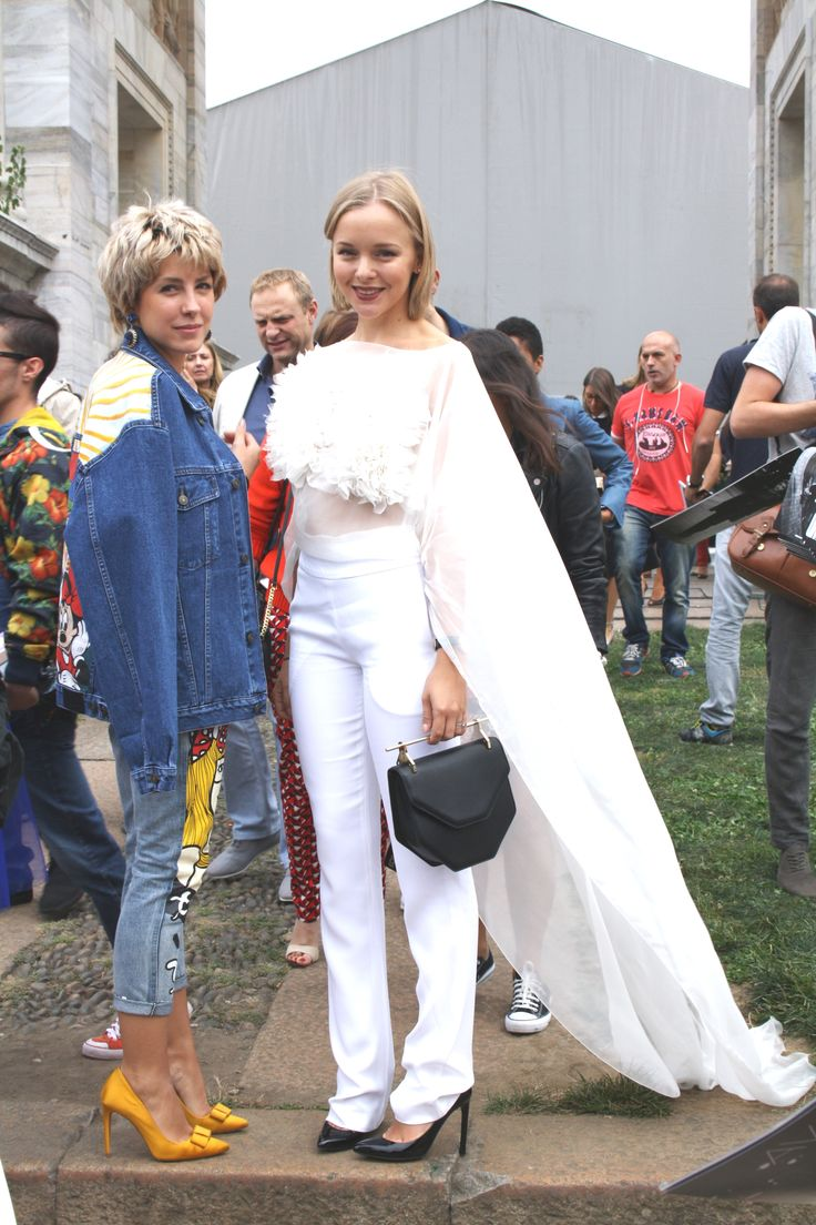 Milan Female Fashion Week SS15 - people @ Just Cavalli show #mfw #ss15 #outfitideas