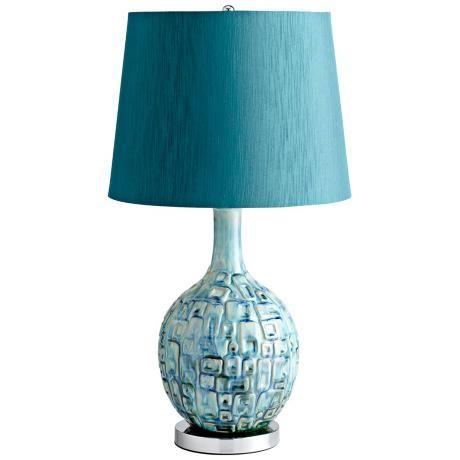 Jordan Ceramic Teal Table Lamp -