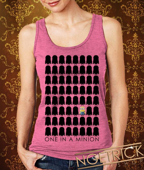 One In A MinionRow Women's Tank  Minion Tank  by Ngetrick on Etsy, $20.50