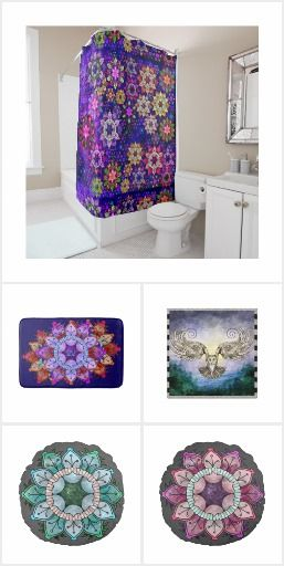 Watercolor Flower Mandalas Home Decor, Gifts and Clothing Collection