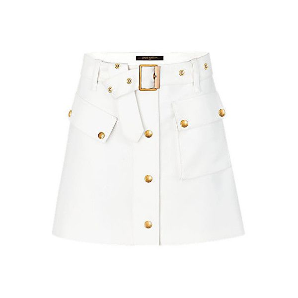 Cotton Blend Belted Mini Skirt ❤ liked on Polyvore featuring skirts, mini skirts, belted mini skirt, short mini skirts, macrame belt, knotted belts and belted skirts