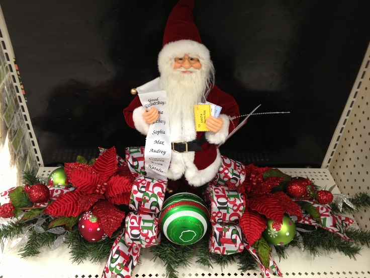 Christmas traditions santa centerpiece design by