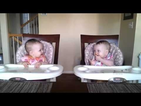 Adorable Twins Rock Out To Daddy's Music--love their faces when he starts playing the guitar...so cute