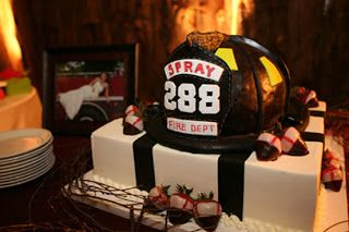 firefighter cakes   fireman s hat by panini cakes bass groom s cake