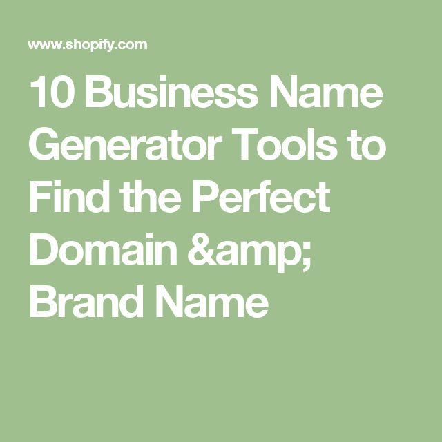 10 Business Name Generator Tools To Find The Perfect Domain Brand