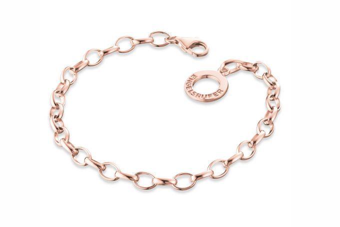 19,5cm Rose Plated Silver Bracelet R1899