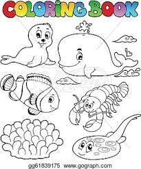 unterwassertiere   malvorlagen tiere, illustration, tiere