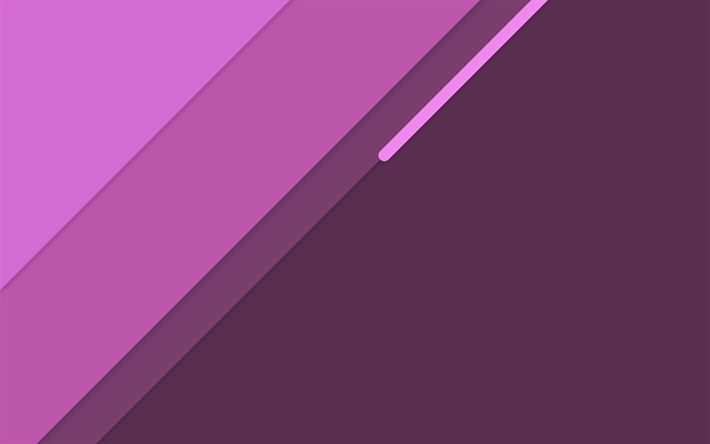 Download wallpapers material design, 4k, creative, lines, purple background