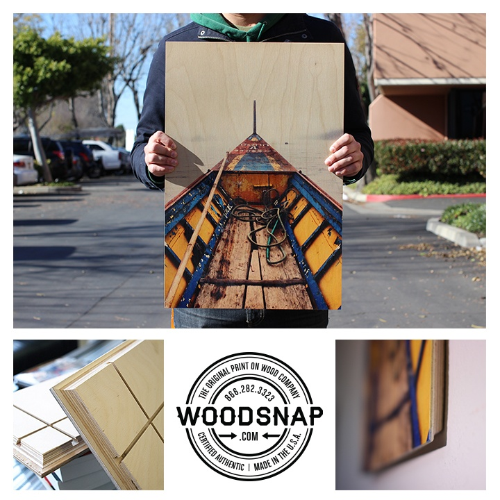 Sail Away, with WoodSnap! This #gorgeous print lets the wood grain really come though in a #beautiful way. The white in the photo prints as the #wood grain itself, & the more vibrant colors mix with the grains creating a www.woodsnap.com