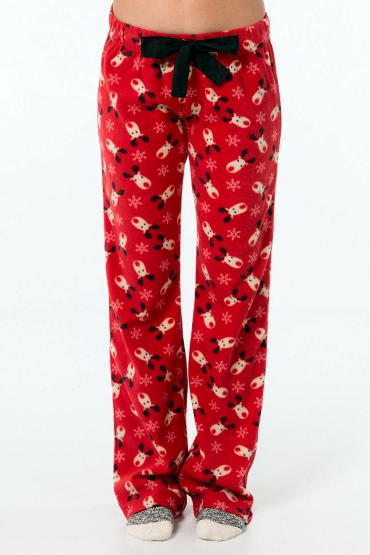 Women's Pajama Pants Fleece Pajama Pants Sleepwear PJ Pants Red Winter Lounge Pants House Pants Girly Gift Ideas Christmas Pants by GrahamsBazaar on Etsy