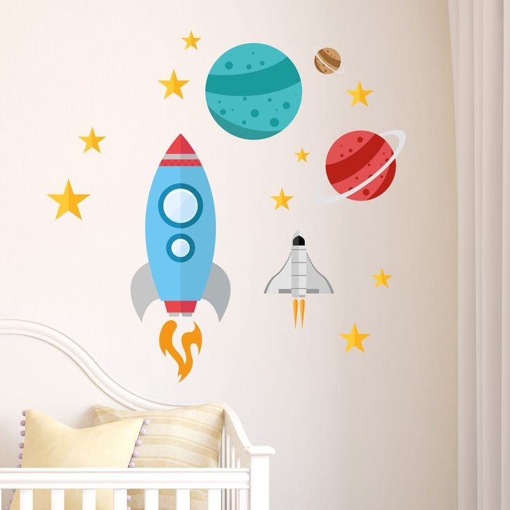 Spaceships and Planets – Wall Stickers