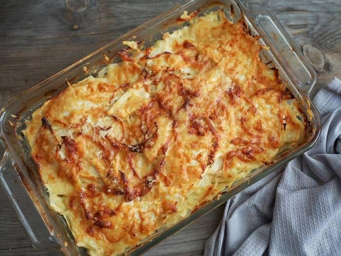 Celery Root and Onion Gratin | Celery- and Celeriac Apio y Papa…
