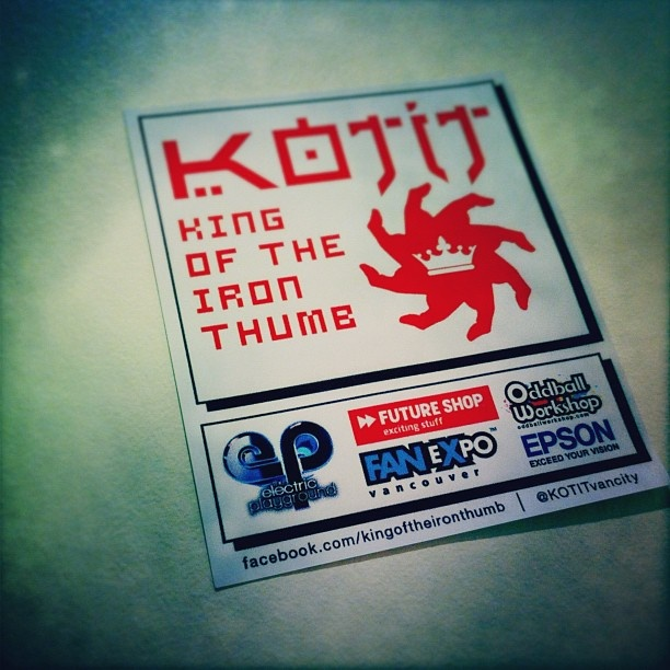 King of the Iron Thumb Sticker #2