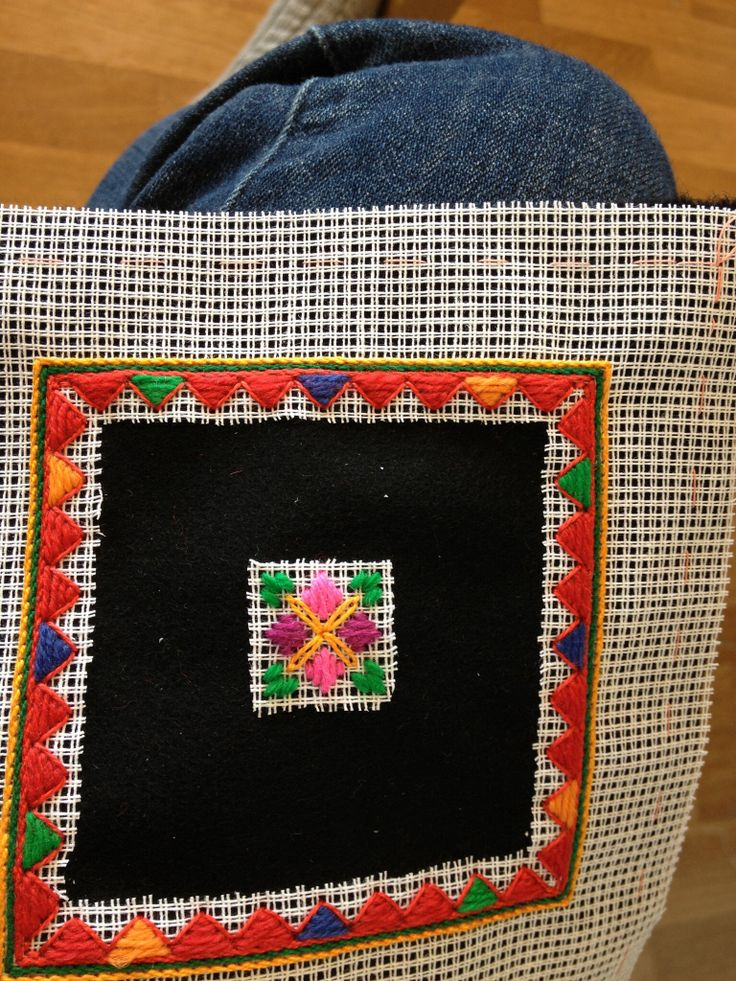 Embroidery sample from Setesdal