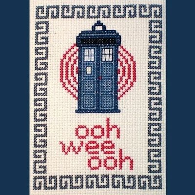 I Have Seen The Whole Of The Internet: Tardis Cross-Stitch