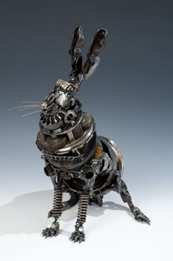 #Steampunk Animals by James Corbett, The Car Part #Sculptor  Artist site: https://jamescorbettart.com/gallery/favourites/ Gallery site: Read more at http://www.odditycentral.com/pics/steampunk-animals-by-james-corbett-the-car-part-sculptor.html#7qBczTVCpbZcRvmG.99