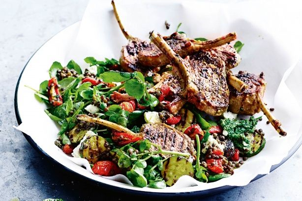 This vibrant lamb salad is full of amazing textures and flavours.