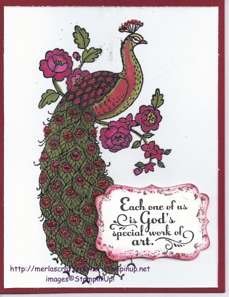 Glittering Perfect Peacock by CraftyMerla - Cards and Paper Crafts at Splitcoaststampers