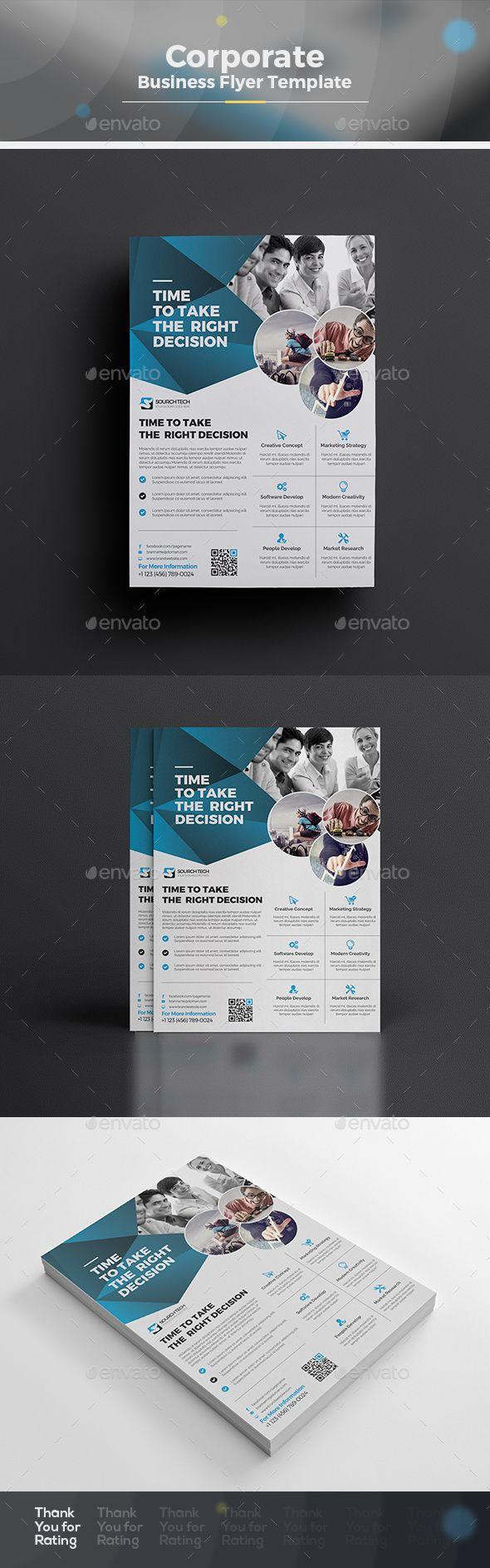 Corporate Flyer Template Vector EPS, AI Illustrator