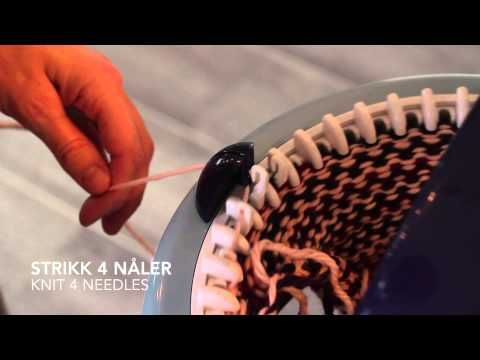 How to knit socks on a knitting mill