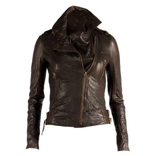 Кожанная женская куртка gucci