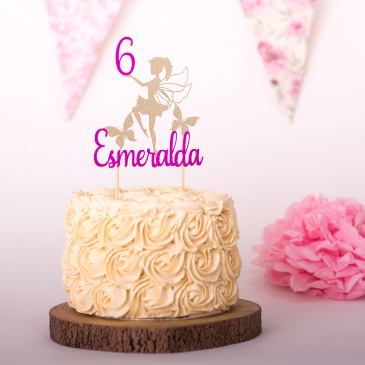 Personalised Glitter Unicorn Cake Topper Seventh Birthday Age 7 Double Sided