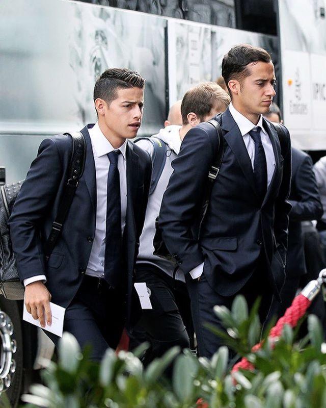 ⠀⠀⠀⠀ #JAMESRODRIGUEZ ⚽️ | ⚽️✈️James Rodríguez and Lucas Vázquez arriving at the…