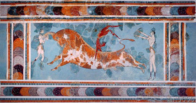 Unbekannt - The Toreador Fresco, Knossos Palace, Crete, c.1500 BC
