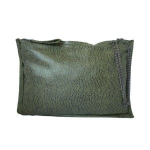 Studio Kropki3 - green clutch purse PARIS