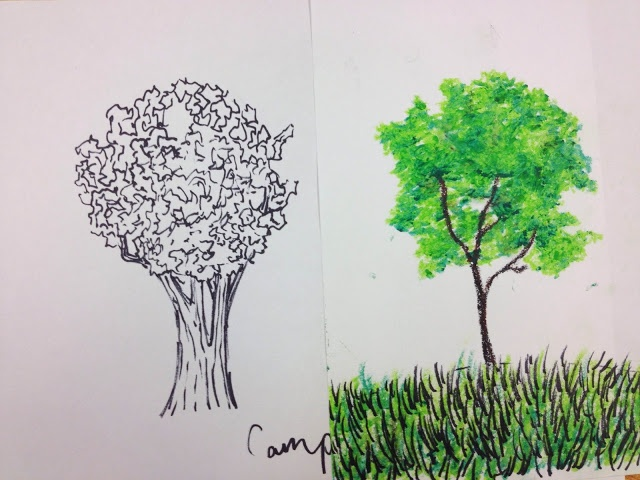 Dream. Pray. Create.: Co-Teaching Art Education with Youtube :: How to Paint Realistic Trees