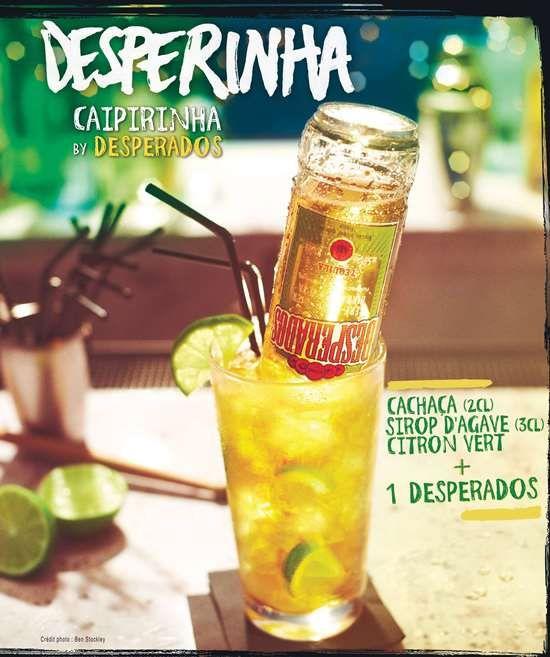 Desperados a choisi le bon moment de l'année pour lancer sa recette de cocktail brésilienne : Desperinha, la Caipirinha by Desperados. C'est simple, allez on y va : Dans un verre tumbler (long), pl...