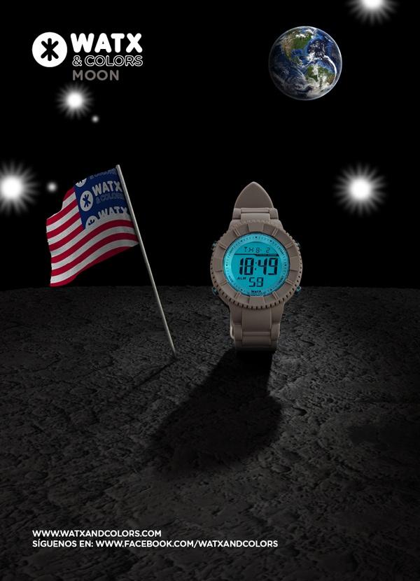 WATX & COLORS Moon: Relojes de colores tendencia con esferas y correas intercambiables. ¡Más de 100 combinaciones diferentes para estrenar reloj cada día!