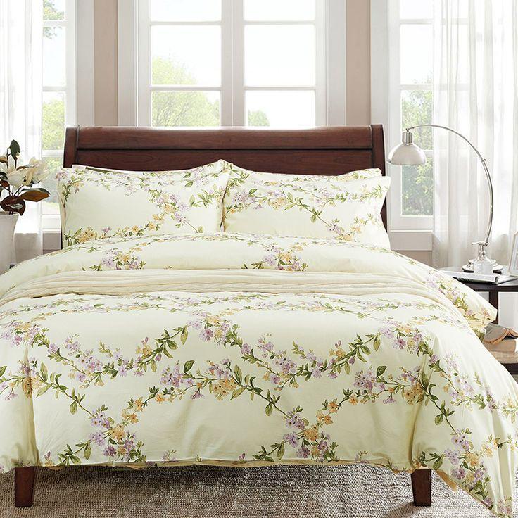 6pc Set Print Floral 100% Egyptian Cotton Duvet Cover 500TC,1pc Duvet Cover1pc Bed Sheet2pc PillowCase 2pc Cushion Cover Bedding