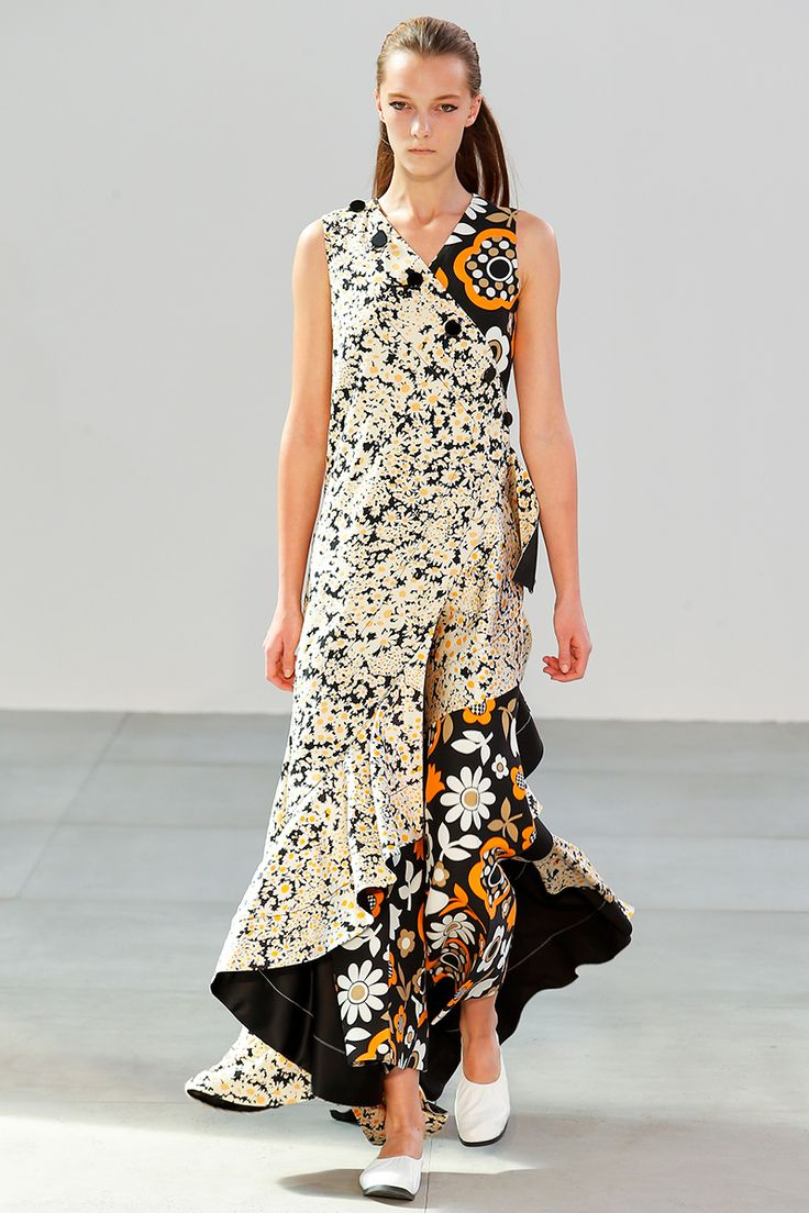 Céline Spring 2015 RTW Floral dress Spring Trends 2015