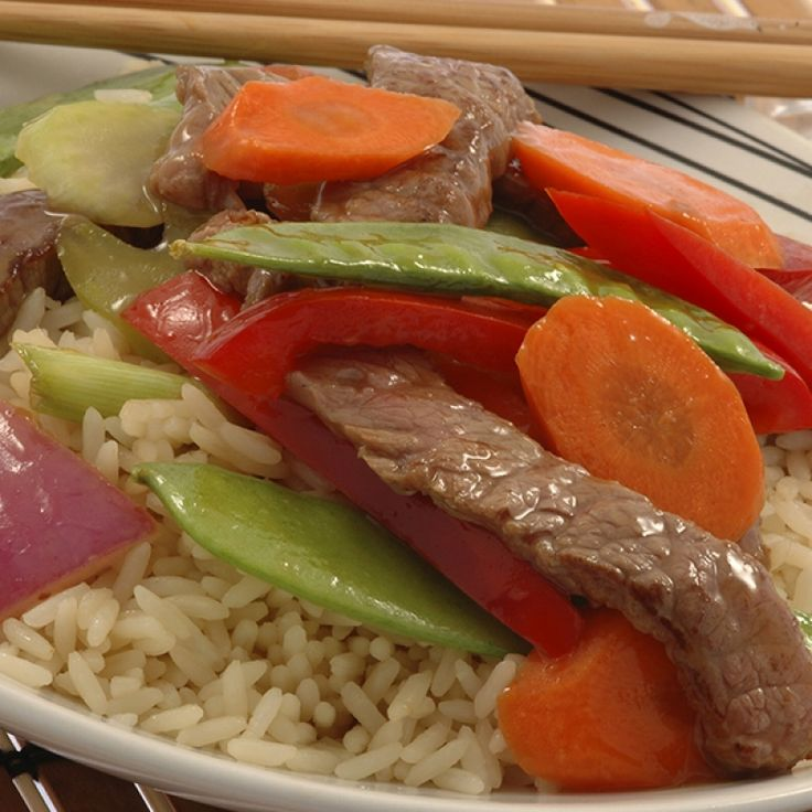 This easy beef stir fry is a quick and colorful weeknight meal.. Easy Beef Stir Fry Recipe from Grandmothers Kitchen.