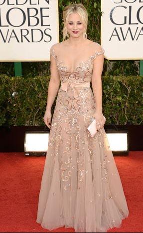 Kaley Kuoco  Zahair Murad dress Golden Globes 2013