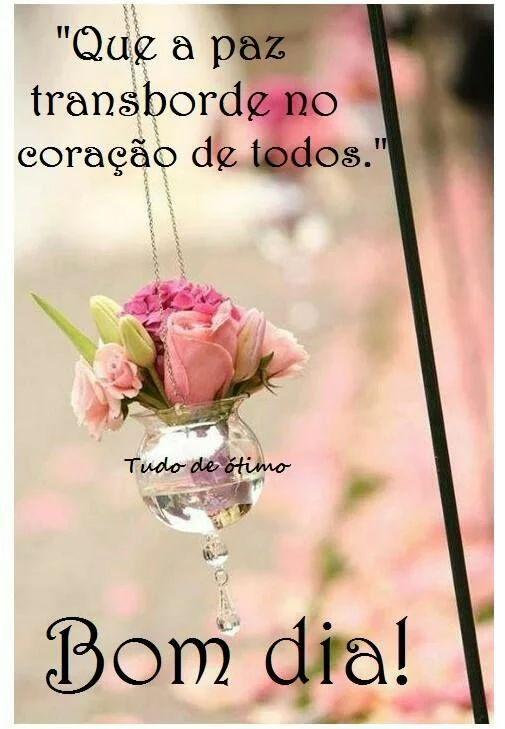 """✿⊱❥ Bom❤️Dia! """" Há uma primavera em cada vida: é preciso cantá-la assim florida, pois se Deus nos deu voz, foi para cantar!"""""""