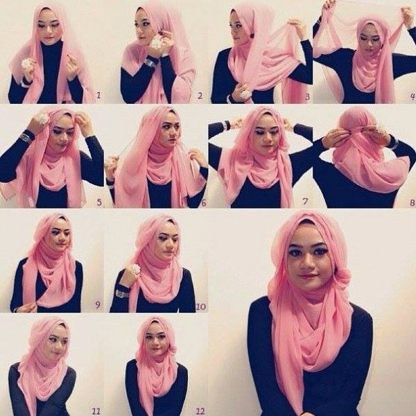 Latest Hijab Styles Tutorials & Designs 2015-2016 (9)