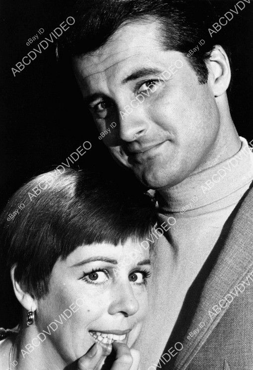 "Press photo of Lyle and actress Carol Burnett for ""The Carol Burnett Show."""