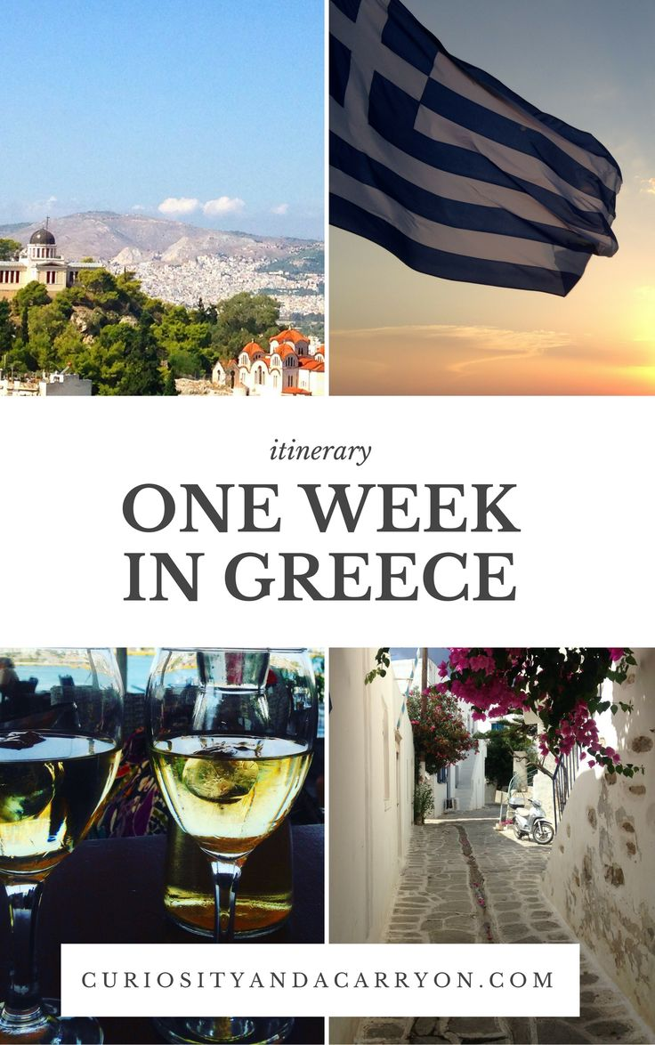 One week in Greece // Working holiday itinerary