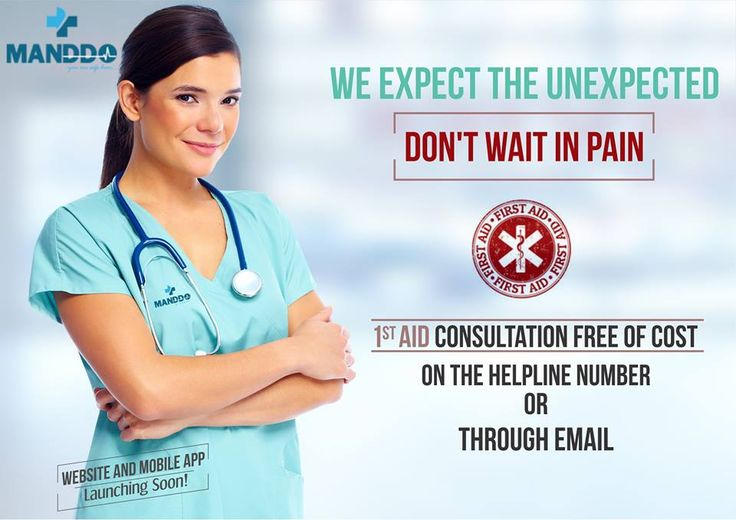 WE EXPECT THE UNEXPECTED | DON'T WAIT IN PAIN. Experienced Something Unexpected? Get Free 1st Aid Consultation from the Right MANDDO Medical Specialist on our Helpline Number or through Email & make a right decision.