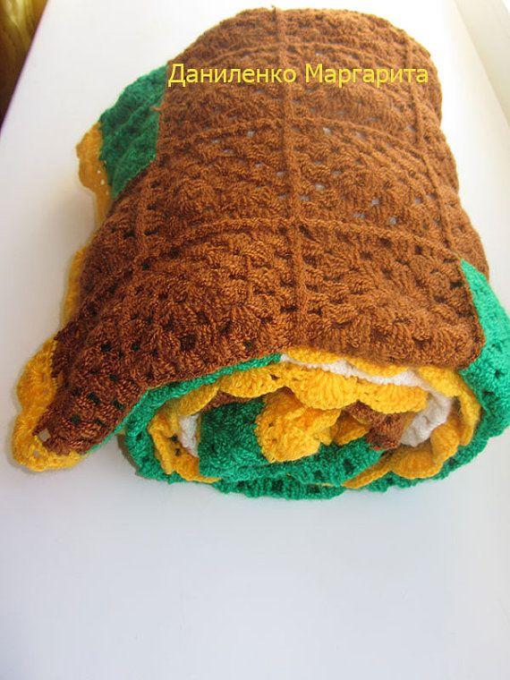 Ganchillo manta afgana Pixel Plaza de la por CrochetedStories