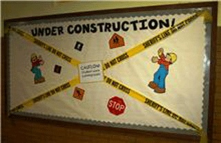 Under Construction Bulletin Board