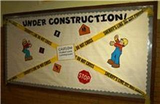 Under Construction Bulletin Board