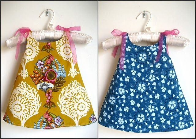 Make for Baby: 25 Free Dress Tutorials for Babies & Toddlers. I want to make the reversible one shown here and the simple pillowcase dress.