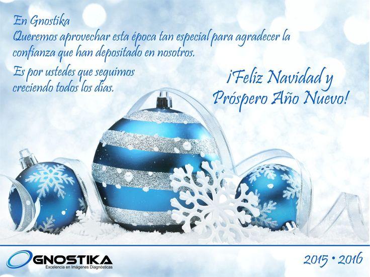 Que esta Navidad signifique solo alegrías en sus vidas y momentos inolvidables al lado de todos sus seres queridos, Feliz Navidad y Prospero Año les desea Gnostika!