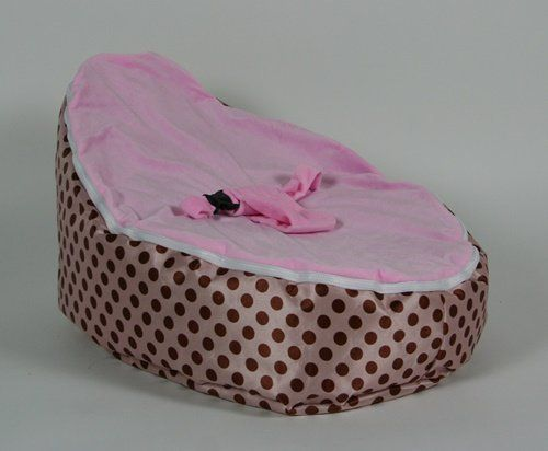 Baby Bean Bags Bag Chairs Pink Brown Beans Polka Dots Beanbag Chair Dot Fabric
