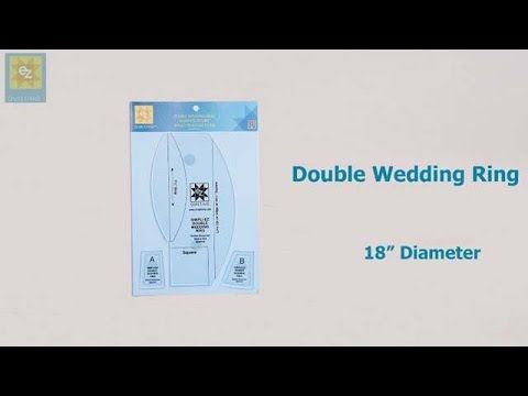 How to use the EZ Quilting Double Wedding Ring template with Jennie Rayment